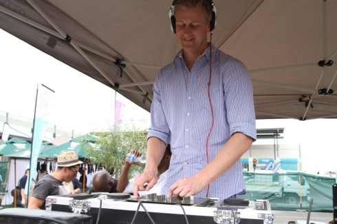 Gareth on decks at gabs food and wine show 2012
